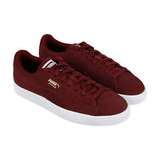 11c3d42d2c58 Puma Heritage Mens Burgundy Red White Gold Suede Lace Up Low ...