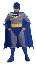Boys Batman Muscle Chest Fancy Dress Costume Grey and Blue all sizes inc teen