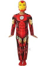 Boys DeIuxe Iron man Muscle Chest Marvel Fancy Dress Costume age 3-8 years