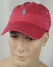 Polo Ralph Lauren Red Baseball Ball Cap Hat Blue Pony NWT