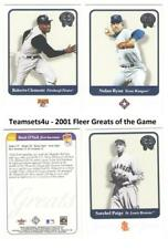 2001 Fleer Greats of the Game Baseball Set ** Pick Your Team **
