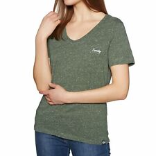 Superdry Essential Vee Womens T-shirt - Washed Khaki All Sizes