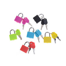 Hot sale Small Mini Strong Steel Padlock Travel Tiny Suitcase Lock with 2 Key WD