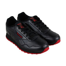Reebok Cl Harman Run Mens Black Leather Athletic Lace Up Training Shoes
