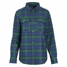 United By Blue Freemont Flannel Button Down Womens Shirt Long Sleeve - Dark