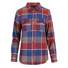United By Blue Freemont Flannel Button Down Womens Shirt Long Sleeve - Red
