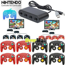 4 Port GameCube Controller/Wii U Adapter + 4x NGC Wii Wired Game Cube Controller