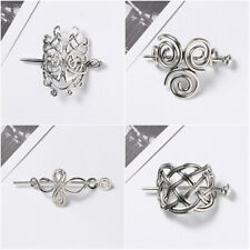Women Viking Runes Knots Crown Hairpins  Jewelry Vintage  Barrettes  Hair Clips