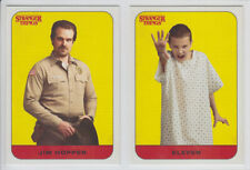 2018 TOPPS STRANGER THINGS NETFLIX SCENE STICKERS CHARACTER CARDS FINISH SET