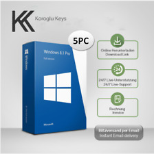 MS Windows 8.1 Professional (1-5 PC) OEM, 32&64 bits, Produktkey per email
