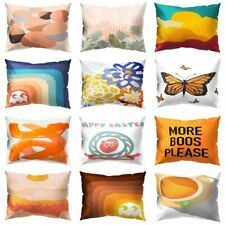 Pillow Case Rectangle Polyester Peach Skin Cushion Car Sofa Bed Home Decorations