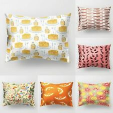 Pillow Case Cushion Sofas Bed Rectangle Polyester Peach Skin Home Decorations