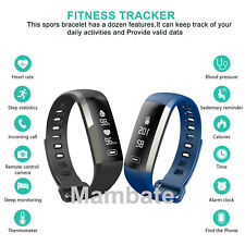 Sports Activity Tracker Heart Rate Fitness Pedometer Bracelet Smart Watch 2Color