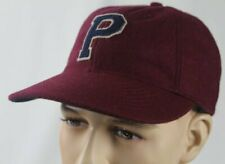 Polo Ralph Lauren Burgundy Wool Letterman Baseball Cap Hat Leather Strap NWT