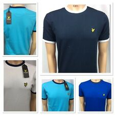 LYLE AND SCOTT SHORT SLEEVE CREW NECK T-SHIRT (WITH DIFFERENT COLLAR)FOR MEN