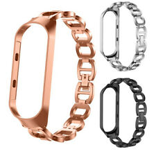 Luxury Stainless Steel Chain Bracelet Strap Watch Band For Xiaomi Mi Band 3