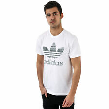 Mens adidas Originals Traction In Action Trefoil T-Shirt In White