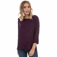 Womens Only Anika 3 Quarter Sleeve Top In Night Sky / Pink