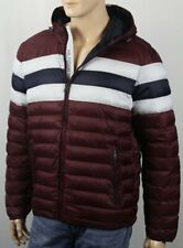 Tommy Hilfiger Burgundy Ultra Loft Hooded Puffer Packable Coat NWT $195