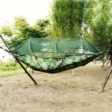 Portable Outdoor Double Mosquito Net Hammock Camping Hanging Bed Swing Travel