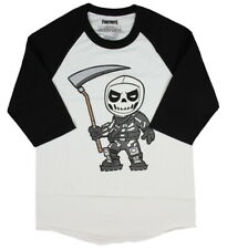 Fortnite Chibi Skull Trooper Skin Men's Graphic Raglan T-Shirt Epic Games