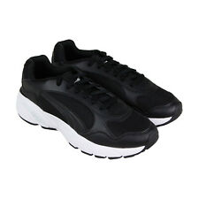Puma Cell Viper Mens Black Leather & Mesh Low Top Lace Up Sneakers Shoes