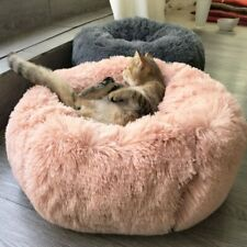 Long Plush Super Soft Pet Bed Kennel Dog Round Cat Winter Warm Sleeping Bag