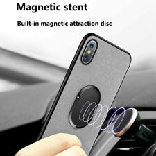 Finger Ring Cell Phone Holder Stand Car Metal Plate Rotating Magnetic Grip 90°