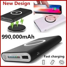 Portable QI Wireless Charger 990000 MAh External Battery Bank Built-in