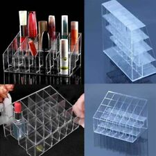 Women Clear Acrylic 24 Lipstick Holder Cosmetic Organizer Display Makeup Case