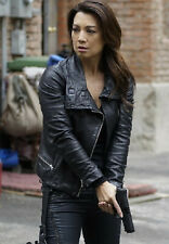 AGENTS OF SHIELD MING-NA WEN GENUINE BLACK LEATHER JACKET FOR WOMEN'S