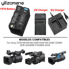 For Sony NP-F960 NP-F970 6600Mah Battery / F550 F750 F970 Battery Charger Lot