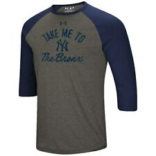 Under Armour New York Yankees Heathered Gray/Navy Heritage Performance Tri-Blend