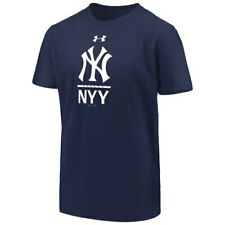Under Armour New York Yankees Youth Navy Armour Lock-Up Charged Performance