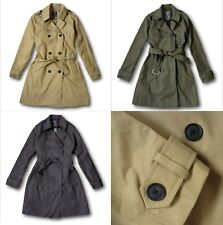 NWT Abercrombie&Fitch by Hollister Women's Classic Trench Coat Jacket Belted