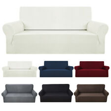1- 4Sofa Couch Slipcover Stretch Covers Elastic Fabric Settee Protector Fit UK