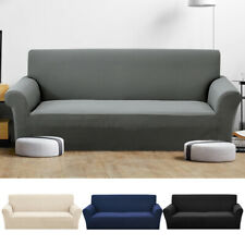 Stretch Sofa Slipcovers Washable Pet Protector Soft Couch Covers 1- 4 Seater UK