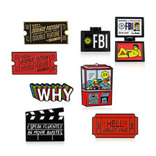 Movie Ticket Science Fiction Horror Movie Admission Ticket HELL Brooch Slot Pins