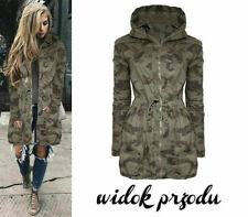 2019 WOMENS CAMOUFLAGE JACKET HOODED WINTER TOP PARKA FASHION LONG COAT OUTWEAR