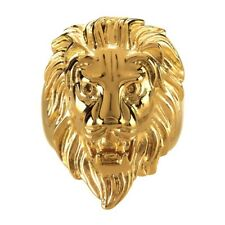 BA0208 - Ring Signet ring Lion Head Gold-Plated Steel Man