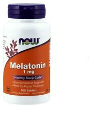 NOW FOODS MELATONIN 1mg 100/300Tabletten Besser Schlaf Gut Schlaftabletten Relax
