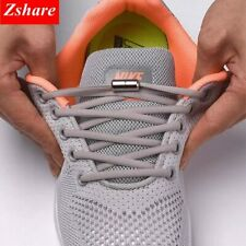 1Pair No tie Shoelaces Round Elastic Shoe Laces For Kids and Adult Sneakers