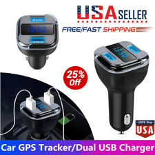 Car GPS Tracker Locator Real Time Find Car Device Dual USB Car Charger Voltmeter