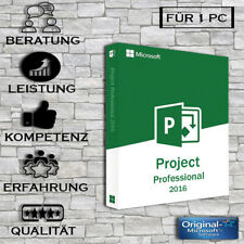 Project 2016 Professional - Vollversion + Anleitung - Key per E-Mail + Anleitung