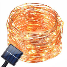 Christmas Led Solar Light String Outdoor Copper Wire Fairy Lights 100 Led Strip