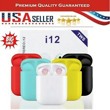 NEW i12 TWS BLUETOOTH 5.0 Earbuds Wireless Headphones Airpods For iphone Android