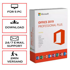 Office 2010/2013/2016/2019 1/5PC Pro Plus/H&B/H&S/365/MAC -32&64 Bits- per Email