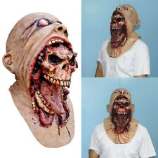 Melting Face Latex Adult Bloody Zombie Mask Halloween Scary Movies Cosplay Props