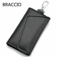Leather Key Chain Holder Pouch Bag Small Card Wallet Case Mini Pocket Organizer