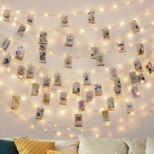 2M/5M/10M Photo Clip USB LED String Lights Fairy Lights Outdoor Battery